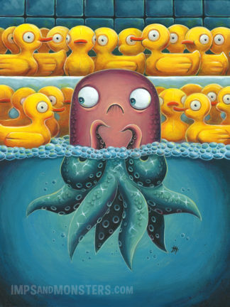 Overwhelming Odds squid painting